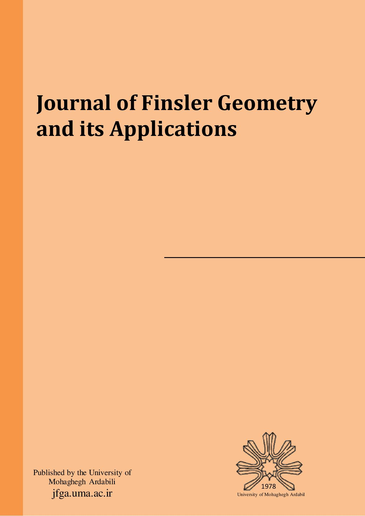 Journal of Finsler Geometry and its Applications
